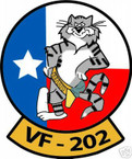 STICKER USN VF 202 FIGHTER SQUADRON TOMCAT