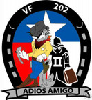 STICKER USN VF 202 FIGHTER SQUADRON AMIGO