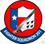 STICKER USN VF 201 FIGHTER SQUADRON