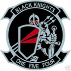 STICKER USN VF 154 FIGHTER SQUADRON BLACK KNIGHT