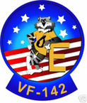 STICKER USN VF 142 FIGHTER SQUADRON TOM CAT