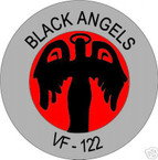 STICKER USN VF 122 FIGHTER SQUADRON BLACK ANGELS