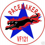STICKER USN VF 121 FIGHTER SQUADRON PACEMAKER