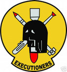 STICKER USN VF 114 FIGHTER SQUADRON EXECUTIONERS