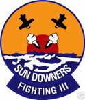 STICKER USN VF 111 FIGHTER SQUADRON SUNDOWNERS
