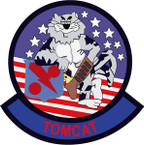 STICKER USN VF 11 FIGHTER SQUADRON TOMCAT B