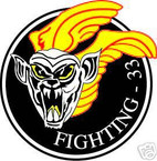 STICKER USN VF  33 FIGHTER SQUADRON FIGHTING
