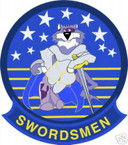 STICKER USN VF  32 FIGHTER SQUADRON SWORDSMEN