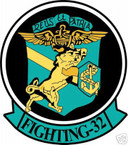 STICKER USN VF  32 FIGHTER SQUADRON FIGHTING