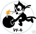 STICKER USN VF   6 FIGHTER SQUADRON FELIX