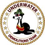 STICKER USN VET Underwater Demolitions Team - Sammy