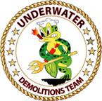 STICKER USN VET Underwater Demolitions Team