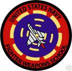 STICKER USN VET U.S. NAVY FIGHTER WEAPONS SCHOOL