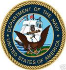 STICKER USN VET U.S. DEPARTMENT OF THE NAVY SHIELD