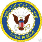 STICKER USN VET U.S. DEPARTMENT OF NAVAL RESERVE