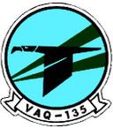 STICKER USN VAQ 135 ATTACK SQUADRON A