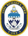 STICKER USN US NAVY T-AKE 4 USS R E BYRD