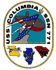 STICKER USN US NAVY SSN 771 COLUMBIA SUBMARINE