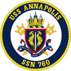 STICKER USN US NAVY SSN 760 ANNAPOLIS