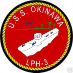 STICKER USN US NAVY LPH 3 USS OKINAWA ASSAULT SHIP