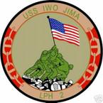 STICKER USN US NAVY LPH 2 USS IWO JIMA ASSAULT SHIP