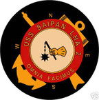 STICKER USN US NAVY LHA 2 USS SAIPAN