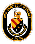 STICKER USN US NAVY FFG 58 USS SAMUEL ROBERTS