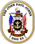 STICKER USN US NAVY DDG 53 USS JOHN PAUL JONES