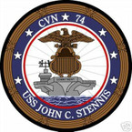 STICKER USN US NAVY CVN 74 USS JOHN C STENNIS