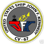 STICKER USN US NAVY CVN 67 USS JOHN F KENNEDY