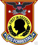 STICKER USN US NAVY CV 59 USS FORRESTAL CARRIER