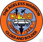 STICKER USN US NAVY CV 43 USS CORAL SEA CARRIER 2