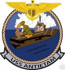 STICKER USN US NAVY CV 36 USS ANTIETAM AIRCRAFT CARRIER