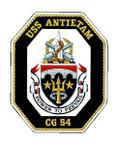 STICKER USN US NAVY CG 54 USS ANTIETAM
