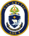 STICKER USN US NAVY AOE 8 USS BRIDGE
