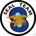 STICKER USN UNIT NAVY SEAL TEAM  8