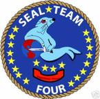 STICKER USN UNIT NAVY SEAL TEAM  4