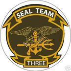 STICKER USN UNIT NAVY SEAL TEAM  3