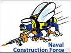 STICKER USN UNIT NAVAL CONSTRUCTION FORCE SEABEE