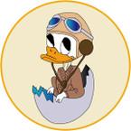 STICKER USN NIT NAS Jacksonville - Donald Duck Egg
