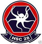 STICKER USN HSC 28 SEA COMBAT SQUADRON