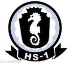 STICKER USN HS 1 HELO ANTI-SUB SQUADRON