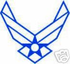 STICKER USAF VET US AIR FORCE WING STICKER