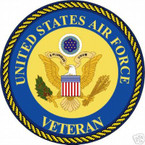 STICKER USAF VET UNITED STATES AIR FORCE VETERAN