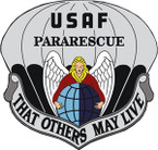 STICKER USAF VET PARARESCUE VETERAN COLOR