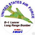 STICKER USAF VET B-1 LANCER BOMBER