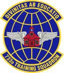 STICKER USAF  733rd Training Squadron Emblem