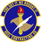 STICKER USAF  802nd Contracting Squadron Emblem