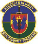 STICKER USAF  502 Security Forces Squadron Emblem