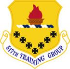 STICKER USAF  517th Training Group Emblem